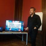 David Chislett presenting- Creative minds require