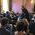 David Chislett presenting- Creative on post its