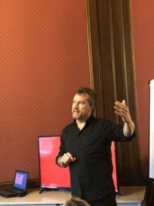 David Chislett presenting- Creativity